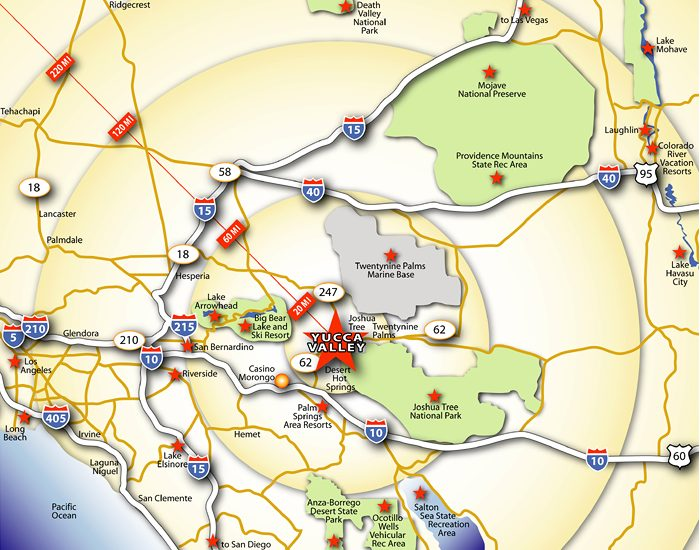 Yucca Valley map